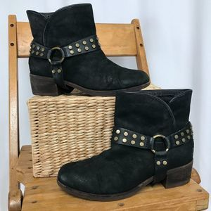 UGG harness ankle boots black